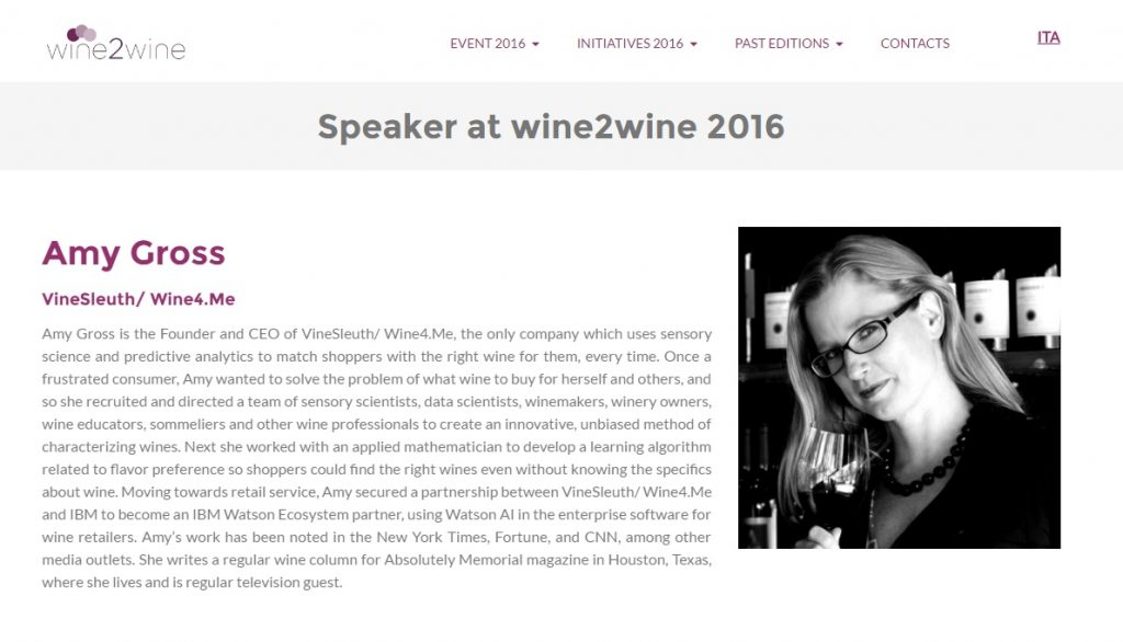 Our Founder and CEO Will Present at Wine2Wine